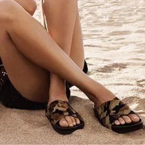 Sam Edelman Adora Calf Hair Camo Sandal